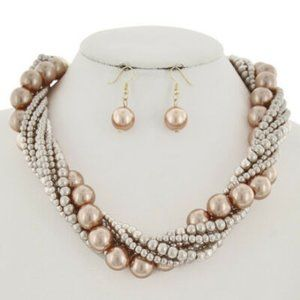 Chunky Bib Necklace Pearl Statement Necklace New